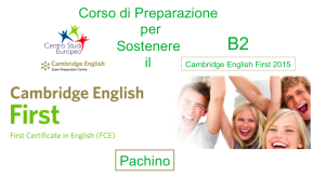 Corso Inglese B2 Cambridge English First Certificate A Pachino